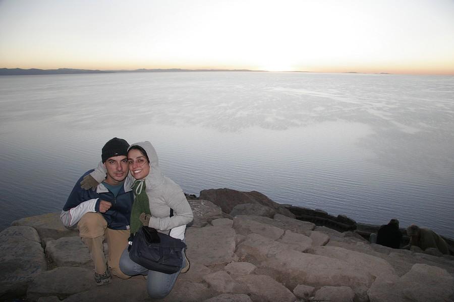 Copacabana na Bolívia - Pôr do sol no Lago Titicaca