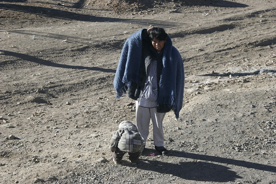 Copacabana na Bolívia - Bolívia um país muito pobre