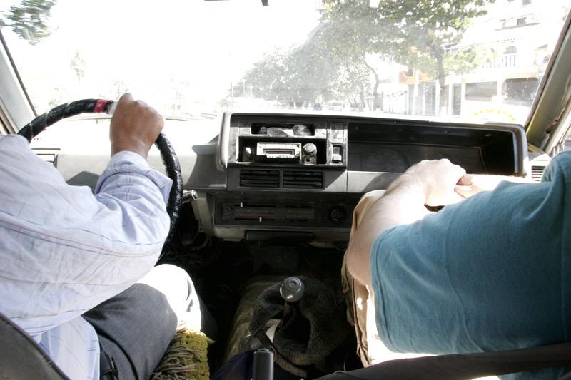 Taxi em Puerto Quijarro, cidade da estação do Trem da Morte
