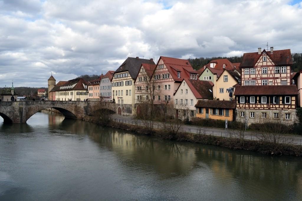 Viagem para Alemanha - Schwabisch Hall e o rio Kocher