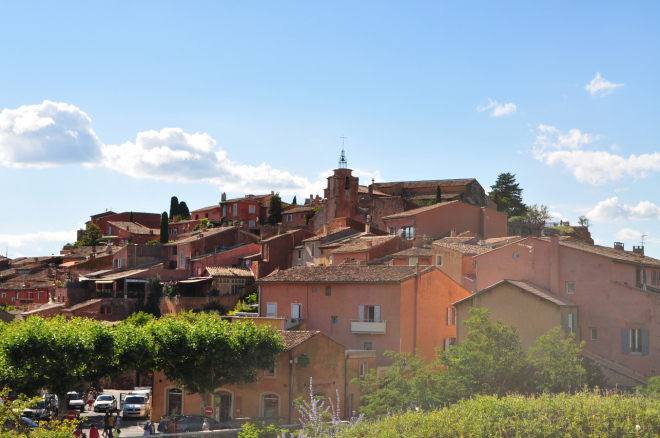 As Mais Belas Vilas da França - Roussillon uma das Les Plus Beaux Villages de France em Provença, França