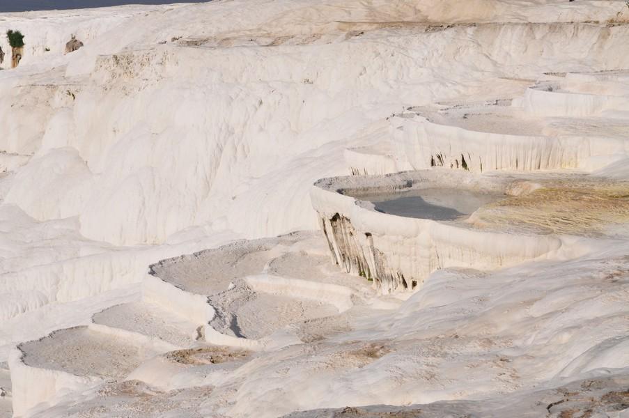 Pamukkale-Hierápolis e Éfeso na Turquia - Castelos de algodão em Pamukkale