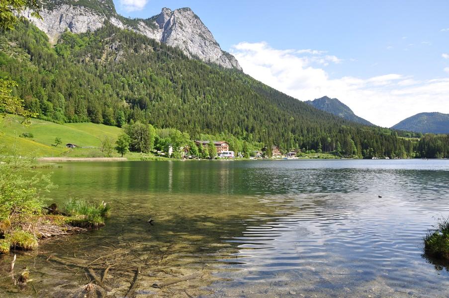 Berchtesgadener Land, Região da Baviera no sul da Alemanha - Hintersee