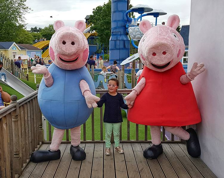Parque da Peppa Pig World - Encontro com a Peppa e George