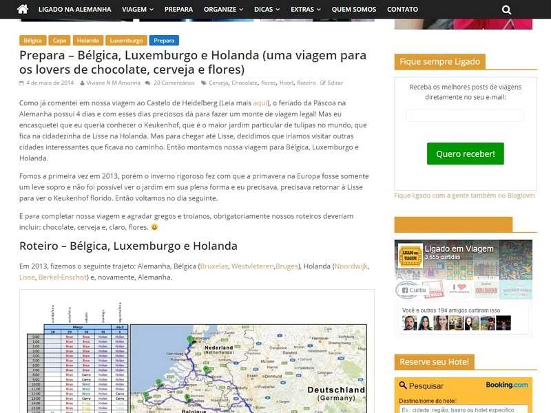 Planejamento Viagem - Pesquisa de roteiro em blogs de viagem