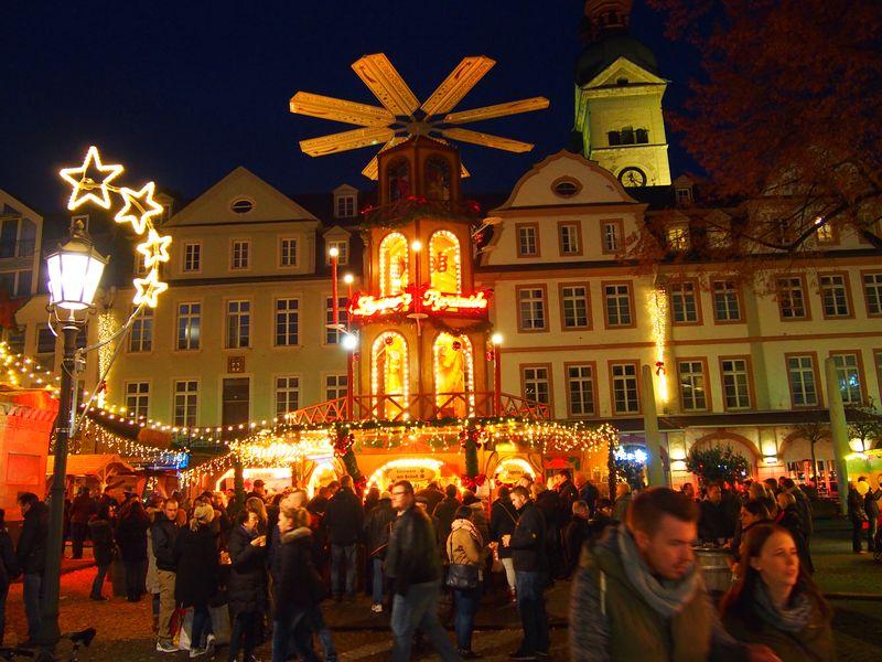 Koblenz Alemanha - Mercado de Natal na Alemanha (Weihnachtsmarkt)