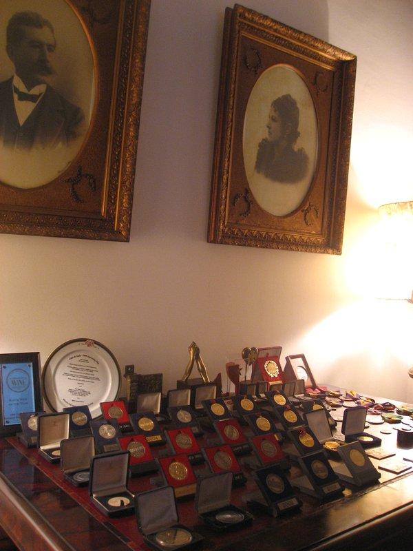 Vinícola Santa Carolina em Santiago do Chile - Prêmios