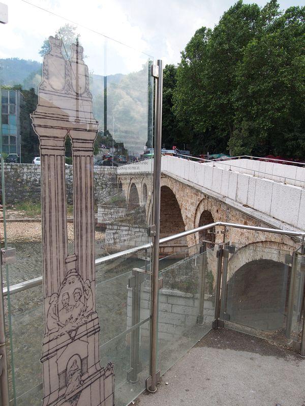 Sarajevo Bosnia e Herzegovina - Ponte Latina, lugar do estopim da I Guerra Mundial