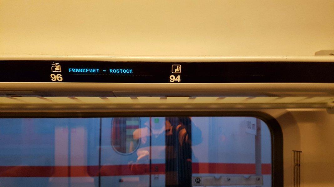 Viagem trem Alemanha - Indicação de assento livre nos vagões