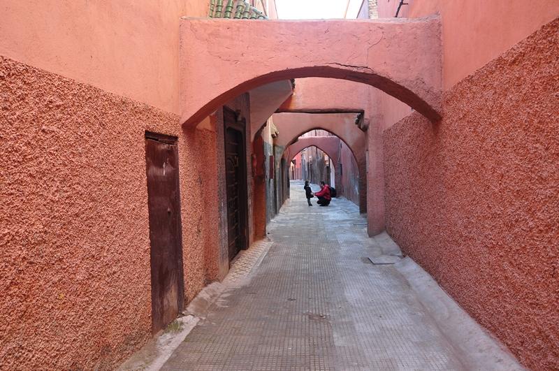 Fotos de Marraquexe em Marrocos - Viela na Medina