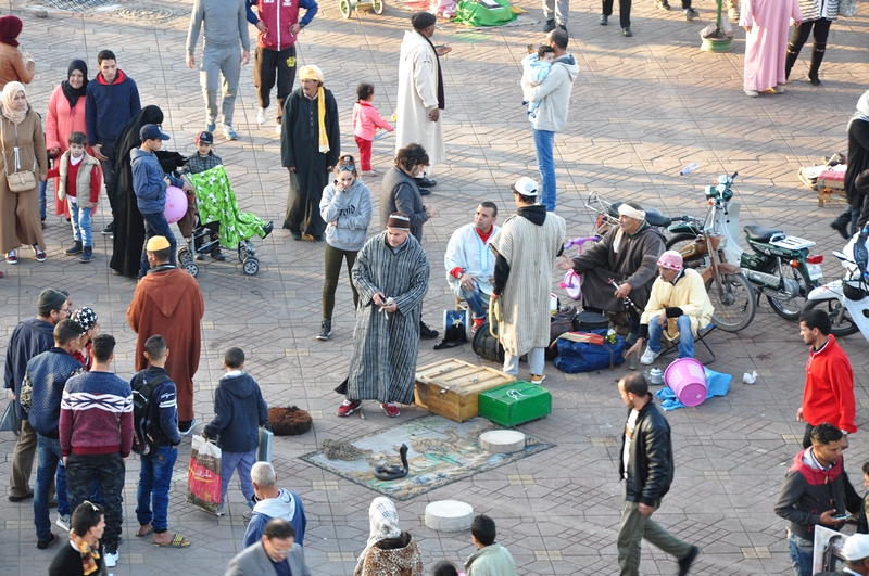 Fotos de Marraquexe em Marrocos - Praça Jemaa el Fna