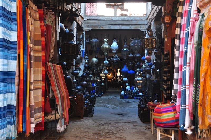 Fotos de Marraquexe em Marrocos - Vendas na Medina e Souks