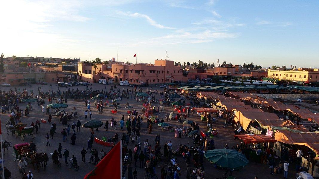 Dicas Viagem Marrakech em Marrocos - Várias fases da Praça Jemaa el Fna