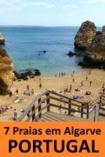 7 praias em Algarve no Portugal