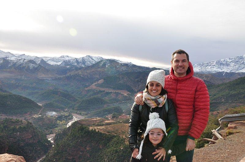 Viagem Ait-Ben-Haddou Ouarzazate Marrocos - Vista para o Alto Atlas