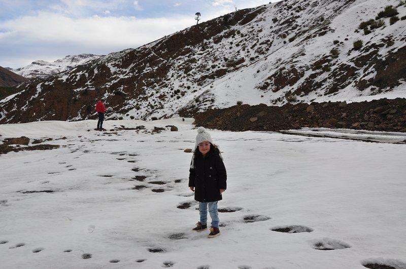 Viagem Ait-Ben-Haddou Ouarzazate Marrocos - Neve no Alto Atlas