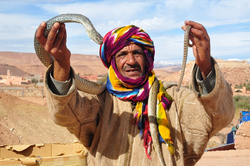 Viagem Ait-Ben-Haddou Ouarzazate Marrocos - Encantador de Serpentes