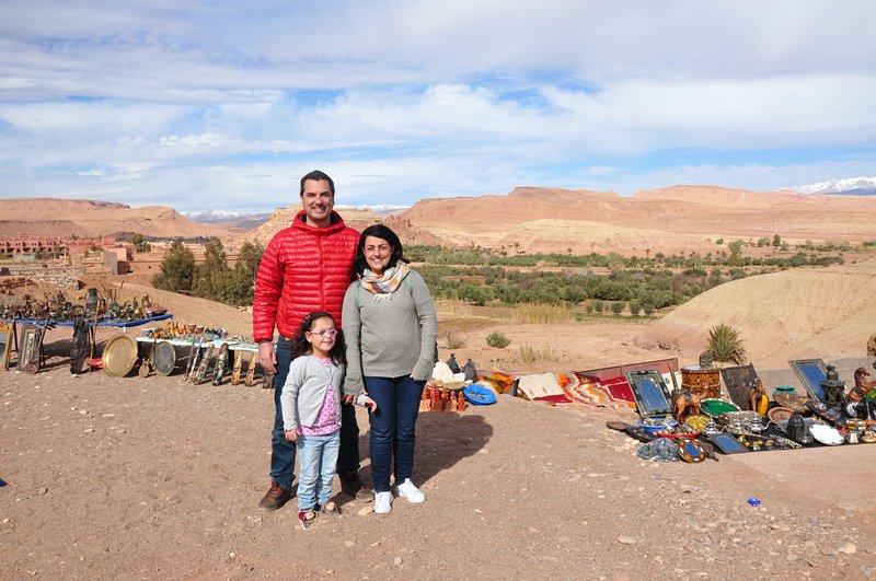 Viagem Ait-Ben-Haddou Ouarzazate Marrocos - Vista para ksar de Ait-Ben-Haddou