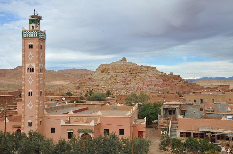Viagem Ait-Ben-Haddou Ouarzazate Marrocos - Vista do restaurante