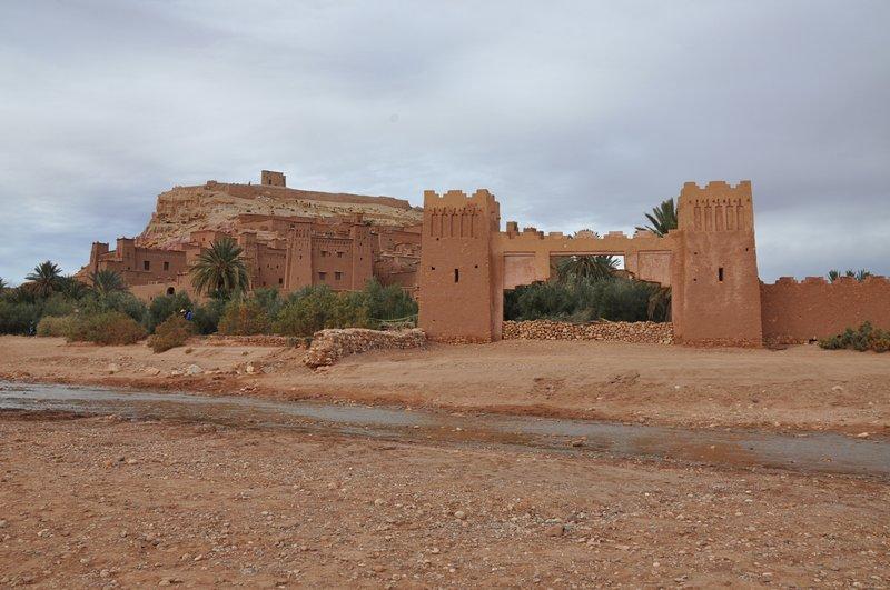 Viagem Ait-Ben-Haddou Ouarzazate Marrocos - Vista cinematográfica mais famosa do ksar e fortaleza