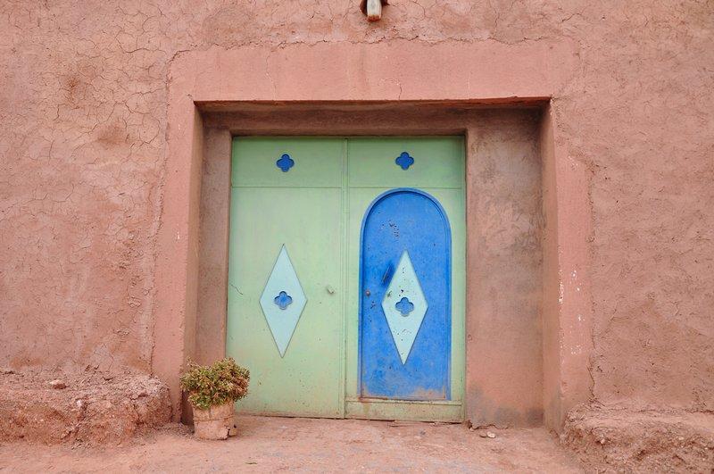 Viagem Ait-Ben-Haddou Ouarzazate Marrocos - Porta azul