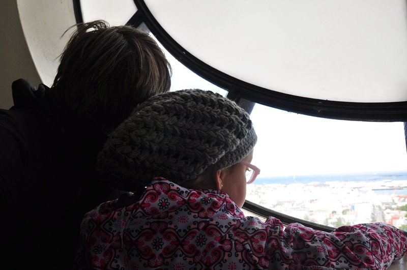 Viagem Reykjavik Islandia - Hallgrímskirkja, vista para a cidade