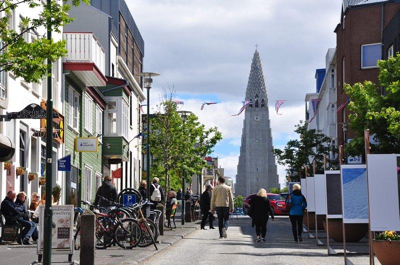 Viagem Reykjavik Islandia - Rua de compras Laugavegur