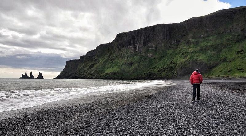 Praia de Areia Preta Islândia