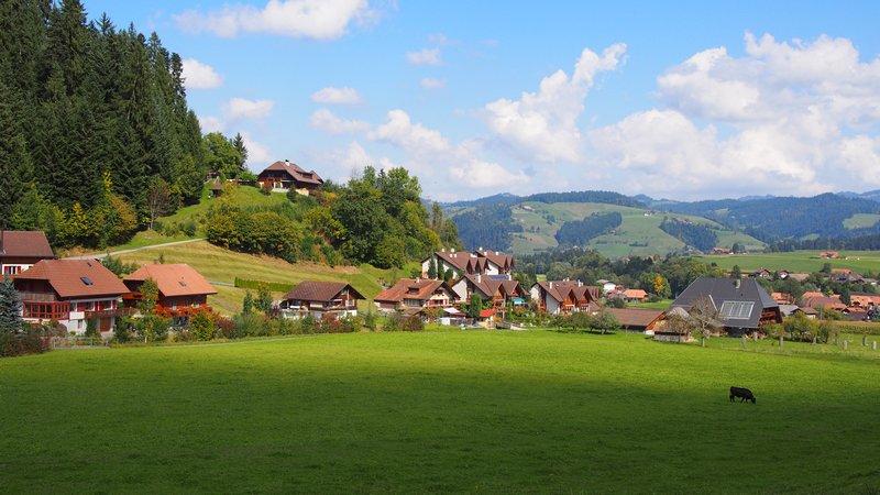 Signau região do Emmental Suíça - Paisagens típicas suíças