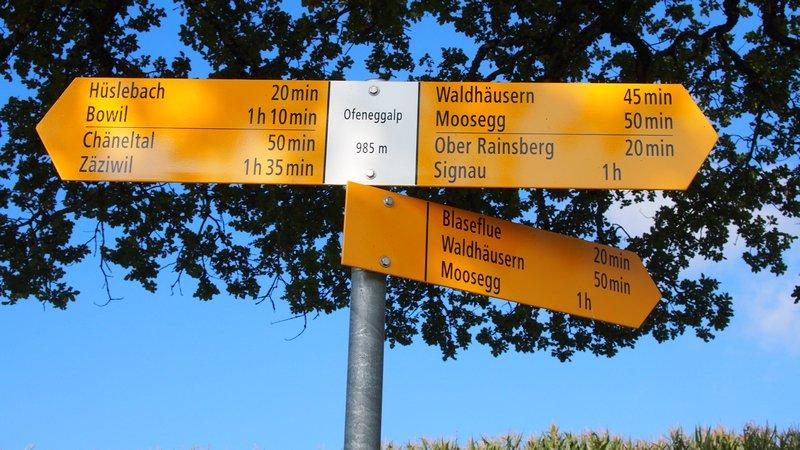 Signau região do Emmental Suíça - Opções de trilhas para hikings e trekkings