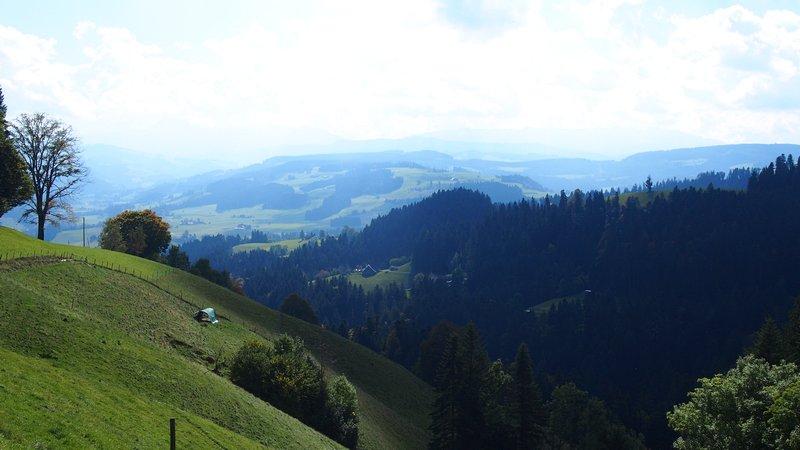 Signau região do Emmental Suíça - Vista da trilha Signau Loop